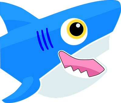 Shark, Baby Shark, Animal, Cartoon, Cute, Fish, Logo