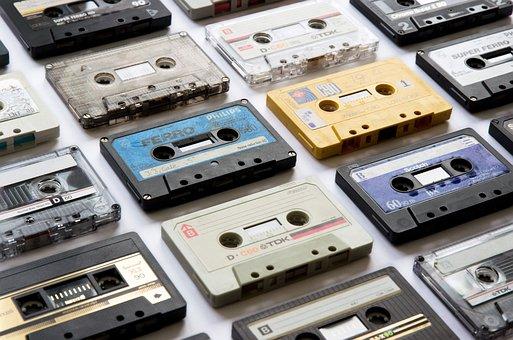 Cassettes, Tapes, Music, Audio, Vintage, Sound, Retro