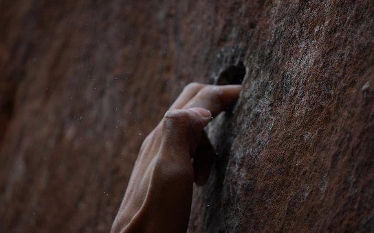 Hand, Dust, Block, Cliff, Climbing, Magnesia