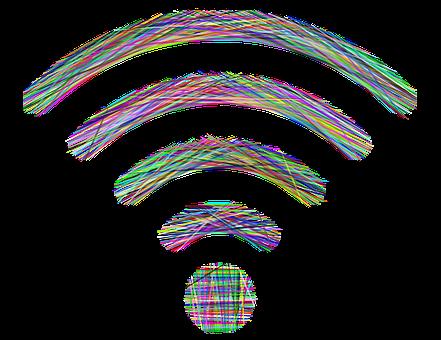 Wireless, Wi-fi, Lines, Line Art, Wifi, Communication
