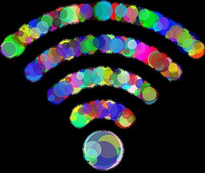 Wireless, Wi-fi, Circles, Dots, Wifi, Communication