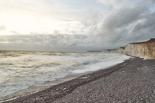 Sea, Seven Sisters, Cliffs, England, Sussex, Coast