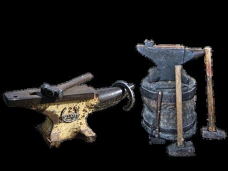 Anvils, Forge, Metal, Forging Hammer, Blacksmith Hammer