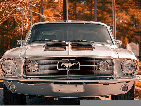 Mustang, Car, Vintage, Front, Muscle Car, Auto