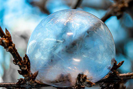 Soap Bubble, Frozen, Frozen Bubble, Ball, Winter, Ice