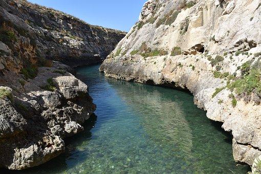 Malta, Gozo, Mediterranean, Coast, Ocean, Sea