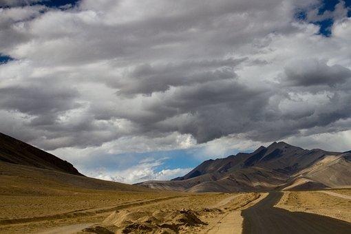 India, Ladakh, Kashmir, Leh, Mountains, Himalaya, Sky