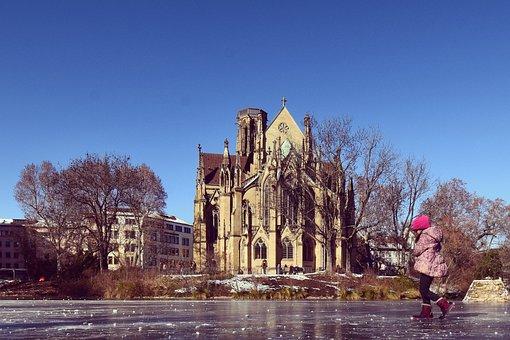 Stuttgart, Ice, Joy, Nature, Winter