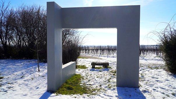 Winter, Vineyard, Landscape, Goal, Panorama, Wintry