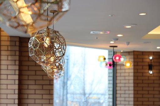 Lighting, Interior, Pink, Chandelier, Light Bulb, Lamp