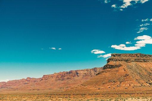 Desert, Mountain, Utah, Canyon, Rock Formation, Mesa
