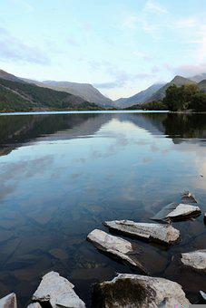 Llyn Padarn, Padarn Lake, Llanberis, Lake, Mountains