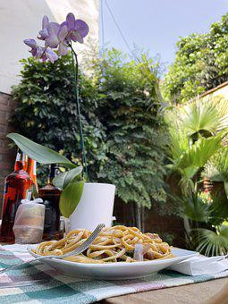 Lunch, At Home, Patio, Summer, Orchid, Quarantine
