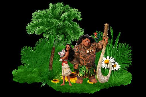 Moana, Characters, Island, Palm Tree, Plants, Tropical