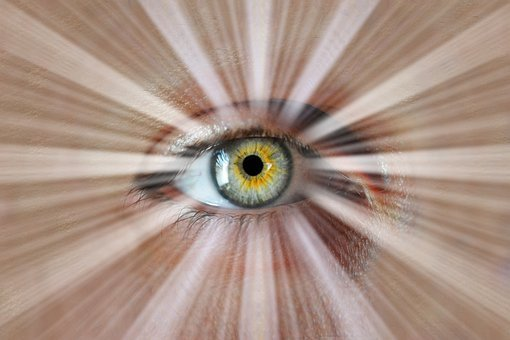 Eye, Pupil, Rays, Perception, Perceiving, Insight