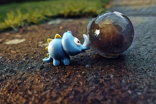 Rhino, Toy, Ice, Sphere, Frozen, Playful, Colorful