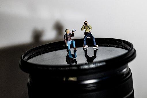 Miniature, Figure, Macro, Light, Shadow, Photograph