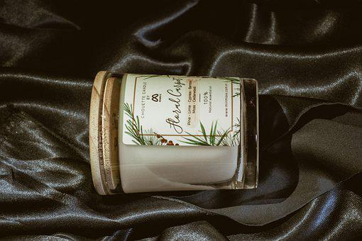 Silk, Candle, White Candle, Mood, Night, Decoration