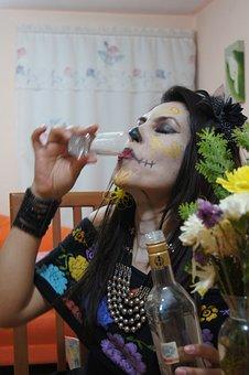 Day Of The Dead, Catrina, Skull, Diademuertos, Skeleton