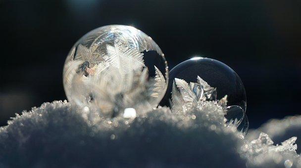 Soap Bubble, Frozen, Ice, Winter, Icy, Frost