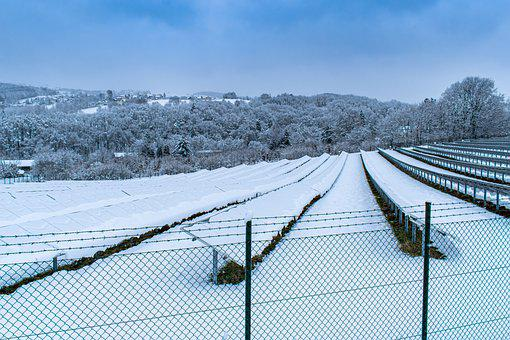 Solar System, Winter, Solarpark, Snow, No Electricity