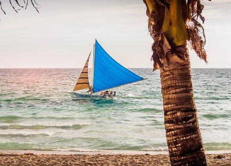 Tourism, Beach, Sailing, Island, Vacation, Summer