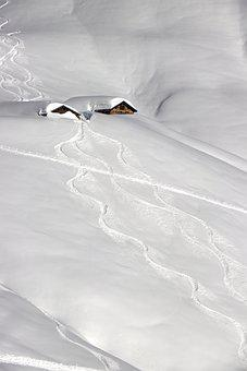 Snow, Hut, Wintry, Mountain Hut, Snowy, Snow Landscape
