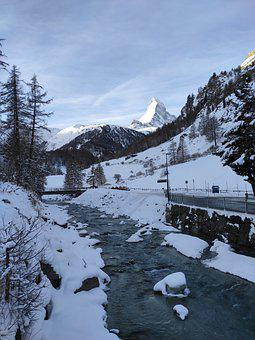 Matterhorn, Switzerland, Mountain, Zermatt, Landscape
