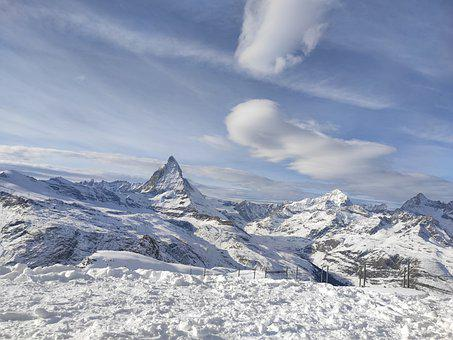 Zermatt, Switzerland, Swiss, Matterhorn, Mountains