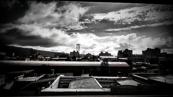 Horizon, City, Sky, Architecture, Building, Urban