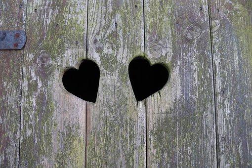 Heart, Wood, Love, Romantic, Symbol, Background