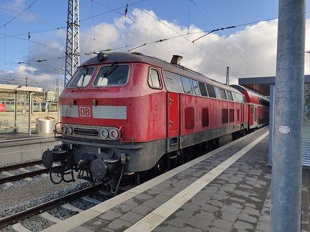 Railway Station, Bhf, Muc, Munich, Diesel, Loco, Br218