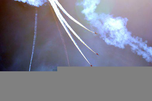 Aircrafts, Airplanes, Air Show, Sky, Clouds, Flight