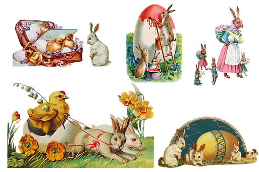 Vintage, Easter Pictures, Collection, Easter Chick