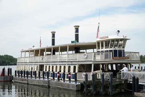 Ferryboat, Disney World Ferryboat, Magic Kingdom Ferry