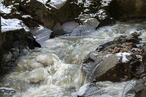 Dome Gate Falls, Beech Stream, Winter Landscape, Nature