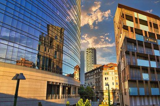 Buildings, Facade, Reflection, Glass Facade