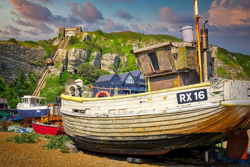 Boat, Fishing Boat, Port, Coast, Fishing Vessel, Cabin