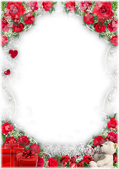 Roses, Pearls, Frame, Flowers, Gifts, Teddy Bear, Bear