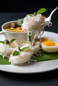 Thai Food, Rice Noodles, Food, Meal, Dish, Cuisine