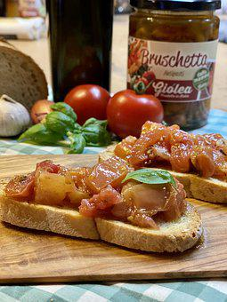 Bruschetta, Tomaten, Food, Delicious, Tomatoes, Basil