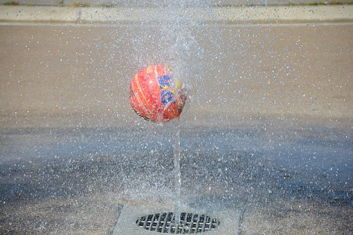 Water Fountain, Water, Fountain, Play, Getting Wet, Wet