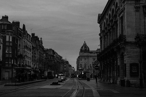 City, Reims, France, Tram, Vehicle, Street, Shuttle