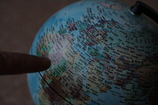 Orientation, Globe, Map Of The World, Finger