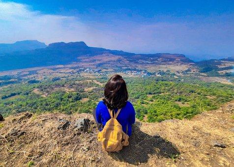Korigad, Adventure, Girl Trekker, Mountains, Greenery