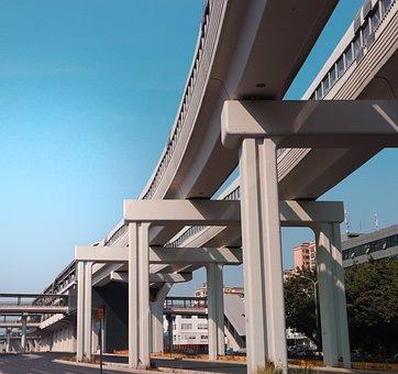 Bridge, Structure, Metro Station, Shenzhen, Guangdong