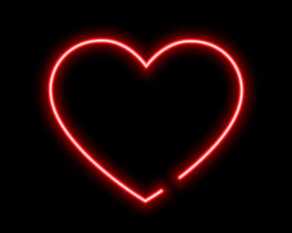 Heart, Heart Neon, Neon Text, Neon Heart Vector