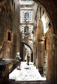 Jewish Quarter, Jerusalem, Alley, Buildings, Street