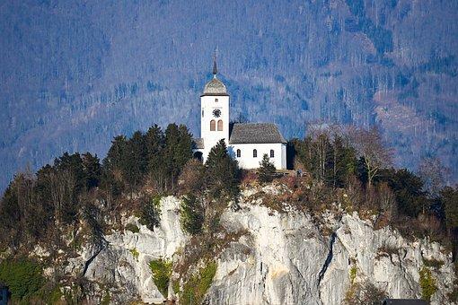 Kirche, Salzkammergut, Church, Nature, Traunsee