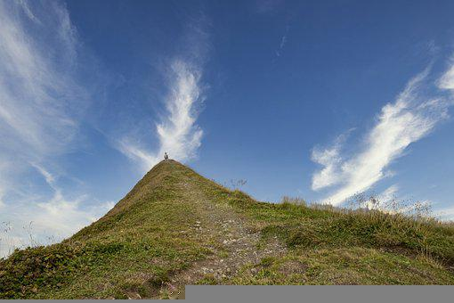 Mountain, Meditation, Landscape, Clouds, Sky, Rest